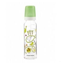 Canpol dojčenská fľaša dekor 240 ml sklo
