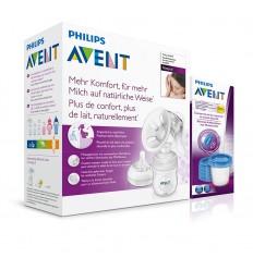 Avent odsávačka mlieka Natural+Via poháriky 180 ml