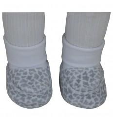Esito kojenecké plyšové papučky 0-3m vzor žirafa