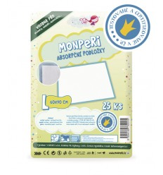 MonPeri hygienické podložky L 60x90 cm, 25 kusov