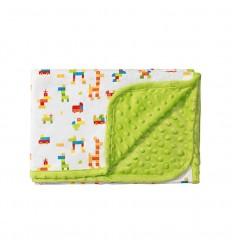 Deka - obojstanná, bavlnená 75 x 100 Zelená