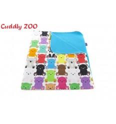 Detská deka Cuddly Zoo Medvedíci modrá