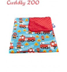 Detská deka Cuddly Zoo Light Požiarnik červená