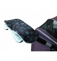 Emitex rukávnik vločka čierny/šedý