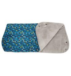 Gmini Justus rukávnik na kočík modrá potlač