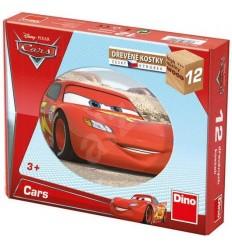 Kubus drevené kocky 12 ks Cars